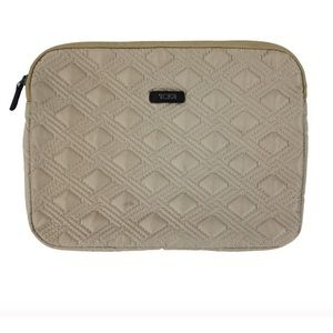 Tumi Champagne Quilted Computer Sleeve